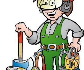 Forest worker cartoon vector