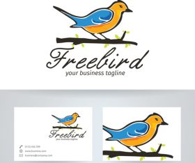 Free bird logo vector