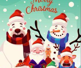 Funny christmas illustration vector