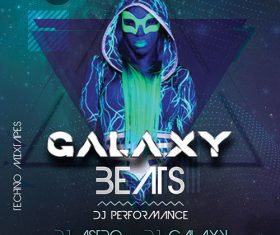 Galaxy Beats Party PSD Flyer Template