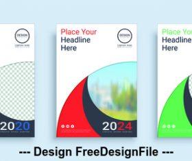 Geometric color icon poster cover design template vector