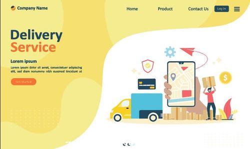 Global express delivery business concept illustration vector