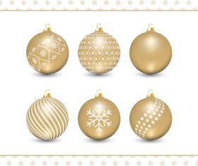 Golden holiday decoration balls vector