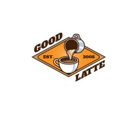 Good latte mascot esport logo vector