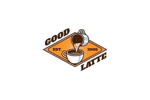Good latte mascot esport logo vector