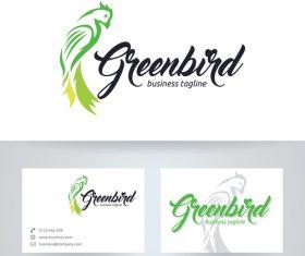 Green bird logo vector
