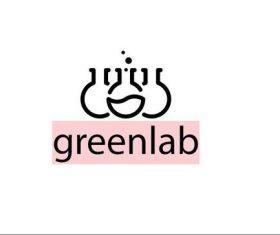 Green lab logo template vector