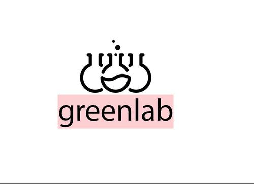 Green lab logo template vector