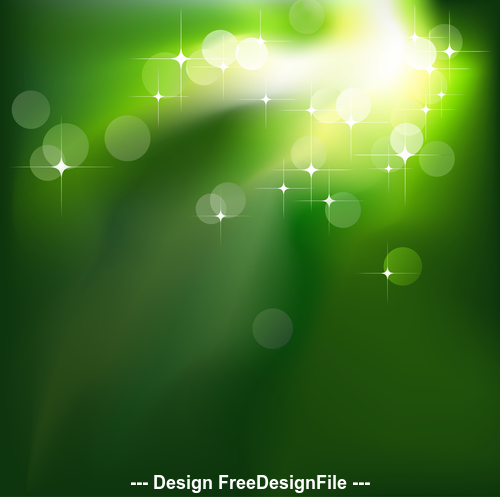 Green pattern background shiny light spot abstract vector