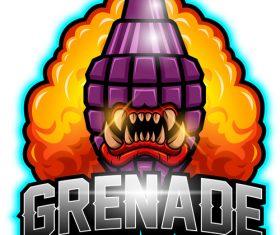 Grenade esport logo vector