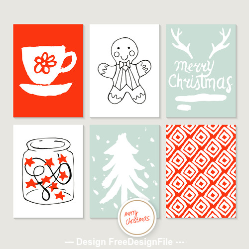 Hand drawn christmas element design vector