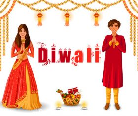 Happy Diwali festival holiday of India vector