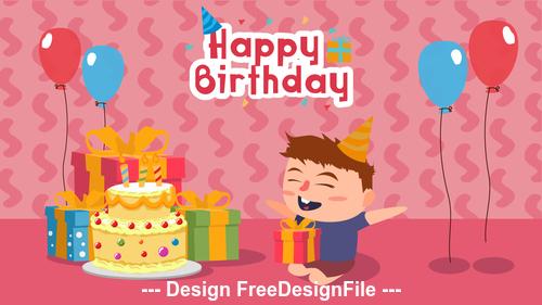 Happy birthday cartoon Illustration vector