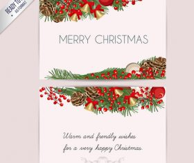 Happy christma postcar vector