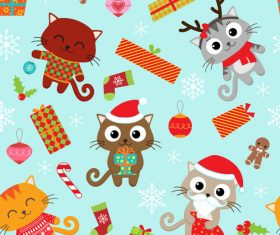 Happy christmas decorative background pattern vector