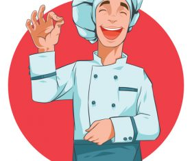 Happy cook vector