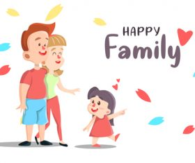 Happy family illustration vector