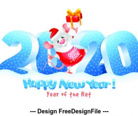 Happy new year element design pattern vector