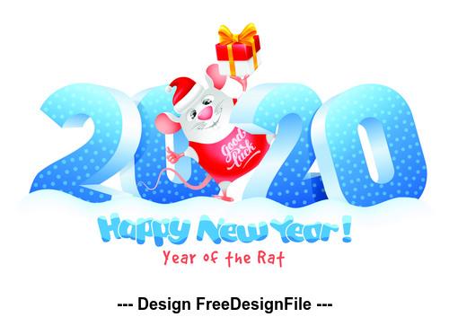 Happy new year element design pattern vector