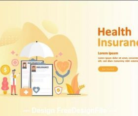 Health insurance cartoon illustration vector