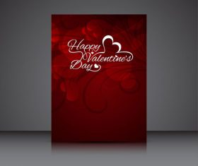 Heart shaped abstract brochure cover vector