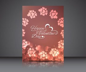 Heart shaped petal booklet cover vector