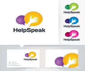 Help speak logo vector