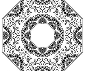 Hexagon pattern mandala tattoo vector