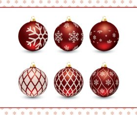 Holiday decoration balls vector