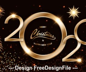 Holly decoration 2020 greeting card background vector