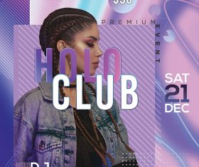 Holo Club Party Poster and Flyer Psd Template