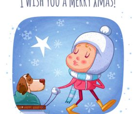 I wish you a merry xmas illustration vector