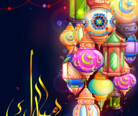 Illustration greeting in Arabic vector