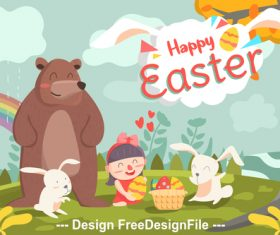 Illustration happy easter vector