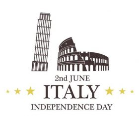 Independence Day Italy vector