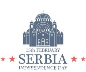 Independence day Serbia vector
