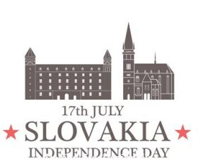 Independence day Slovakia vector