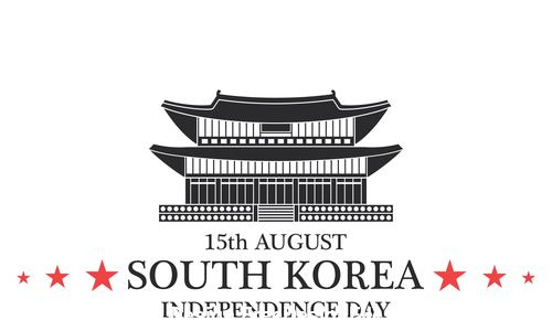 Independence day South Korea vector