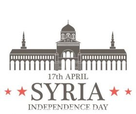 Independence day Syria vector