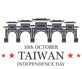 Independence day Taiwan vector