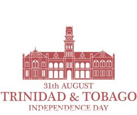 Independence day Trinidad and Tobago vector