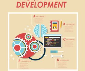 Infographic elements development Illustratio vector