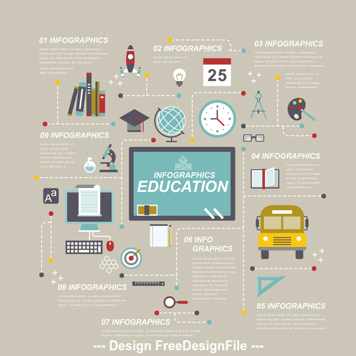 Infographic elements education Illustratio vector