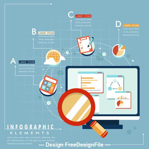 Information Responsive web design vector