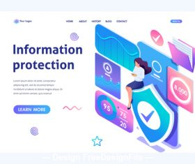 Information protection concept illustration vector