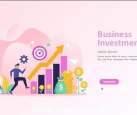 Investment cartoon illustration vector