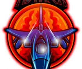 Jet fighter mascot esport logo vector