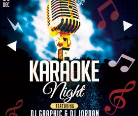 Karaoke Night Party Flyer PSD Template