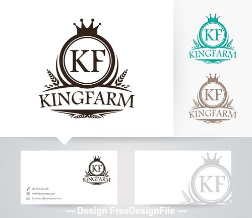 King farm logo vector