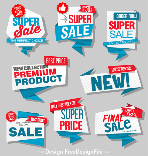 Label price badge vector